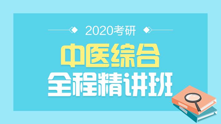 2020考研中医综合全程精讲班