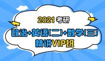 2021考研政治+英语(二)+数学(三)联报精讲VIP班