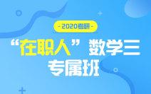 """2020考研""""在职人""""数学三专属班"""