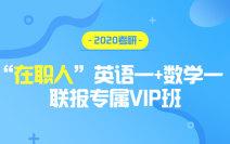 """2020考研""""在职人""""英语一+数学一联报专属VIP班"""