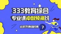 【预售】333教育综合专业课冲刺预测班